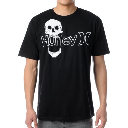Hurley One & Only Skull Black Tee Shirt