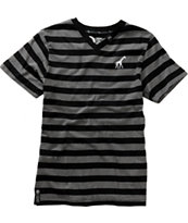LRG Boys Core Black Stripe V-Neck Tee Shirt