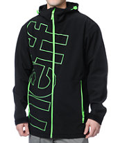 Neff Daily Black & Green 10K Technical Softshell Snowboard Jacket