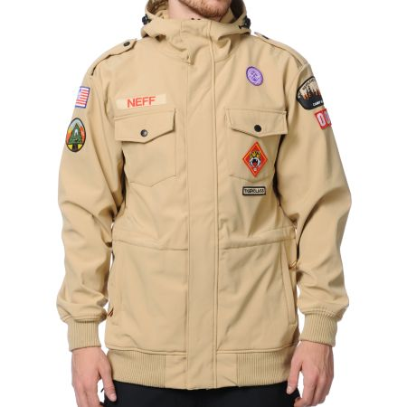 Neff Camp Reject 10K Khaki Softshell Snowboard Jacket 2013