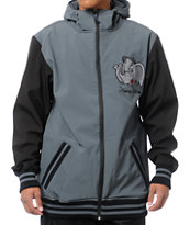 Neff Elephante Charcoal Grey 10K 2013 Softshell Snowboard Jacket