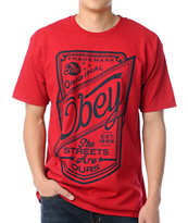 Obey Streets Are Ours Red Tee Shirt