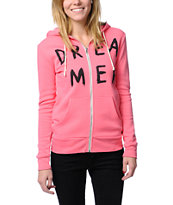 Glamour Kills In The Clouds Pink Zip Up Hoodie
