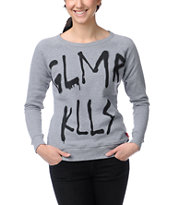 Glamour Kills Bushwicked Heather Grey Crew Neck Sweatshirt