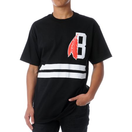 Black Scale Feather Black Tee Shirt