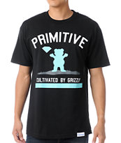 Primitive x Grizzly x Diamond Cultivated Black Tee Shirt