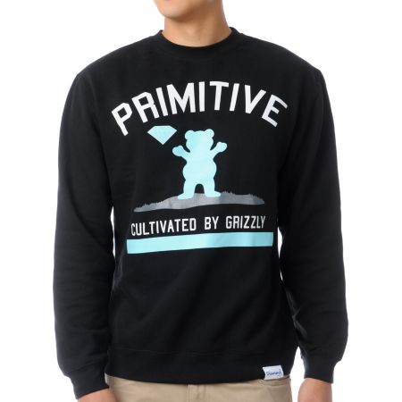 Diamond x Grizzly x Primitive Cultivated Crew Neck Sweatshirt