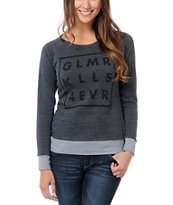 Glamour Kills 4 Ever Charcoal Crew Neck Sweatshirt