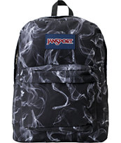 Jansport Superbreak Black & White Smoke Screen Backpack