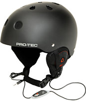 Pro-tec Classic Black Audio Force 2013 Snowboard Helmet