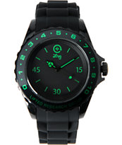 LRG The Longitude Black & Green Analog Watch