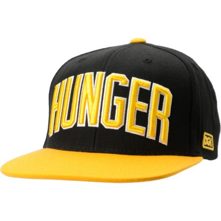 DGK Hunger Black & Yellow Snapback Hat