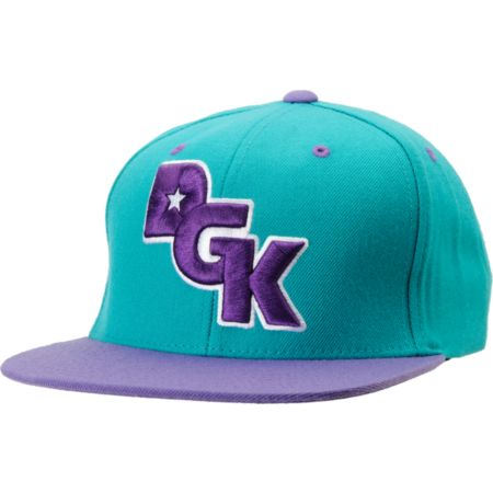 DGK The Stagger Teal & Purple Snapback