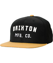 Brixton Arden Black & Yellow Snapback Hat