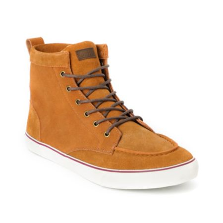 Obey x Generic Surplus High Top Brown Suede Shoe
