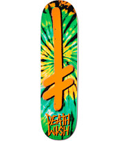 Deathwish Gang Logo Orange Tie Dye 8.25 Skateboard Deck