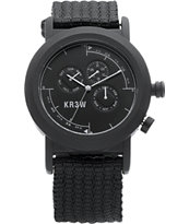 KR3W Black Navigator Analog Watch