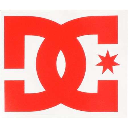DC Shoes Star Red Die Cut Sticker