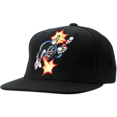 The Hundreds x The Seventh Letter Rime Adam Black Snapback Hat