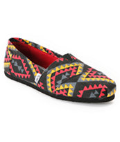 Toms Classics Girls Red Indo Vegan Shoe