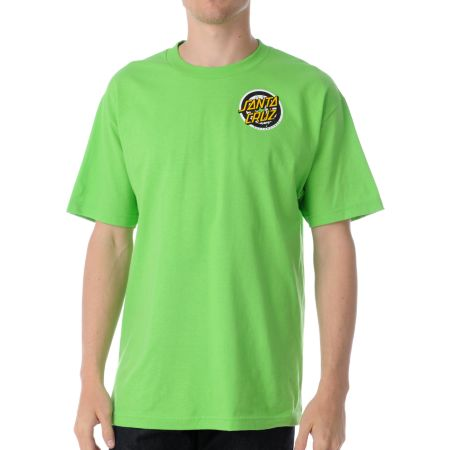 Santa Cruz Homer 1 Lime Green Tee Shirt