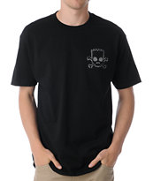 Santa Cruz The Simpsons Bart Skull Black Tee Shirt