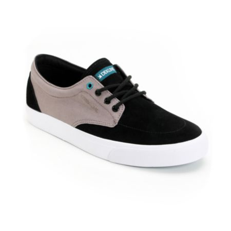 Dekline Mason Black & Charcoal Grey Shoe