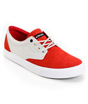 Dekline Mason Red & Light Grey Shoe
