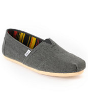 Toms Classics Black Farrin Men's Shoe