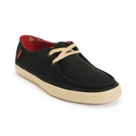Vans Rata Black Khaki Canvas Shoe