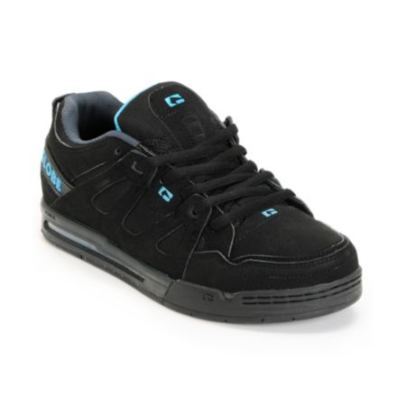 Globe Option Black & Hawaiian Blue Skate Shoe