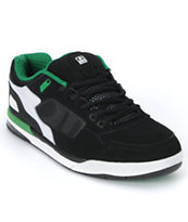 Globe Shoes Viper Black, White & Green Skate Shoe