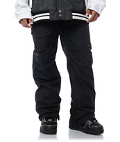 Burton TWC Throttle Black 10k Cargo Snowboard Pants 2013
