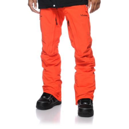 Volcom V-Bird GORE-TEX 2013 Orange Snowboard Pants