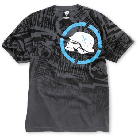 Metal Mulisha Boys Jolt Charcoal & Blue Tee Shirt