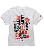 Element Boys Letterpress White Tee Shirt