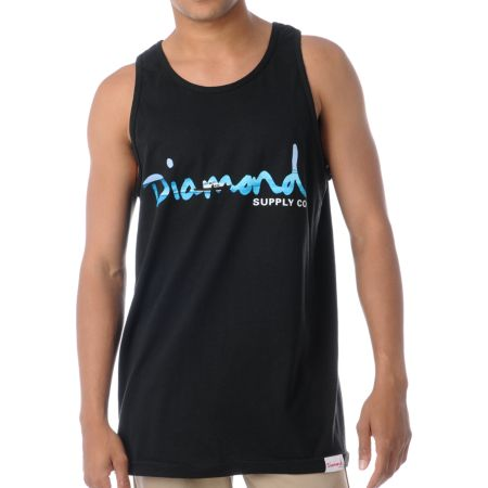 Diamond Supply Black OG Yacht Tank Top