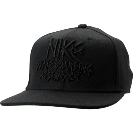 Nike Skateboarding Fabric Black Snapback Hat