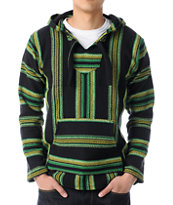 Senor Lopez Black, Green, & Yellow Poncho