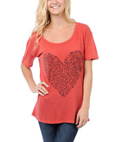 Obey Girls Keith Haring Loving Heart Throwback Tee Shirt