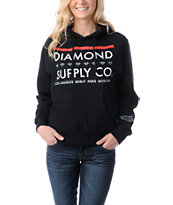 Diamond Supply Girls Roots Black Pullover Hoodie