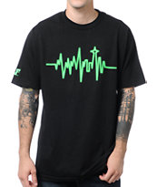 Cake Face Heartbeat Black Tee Shirt