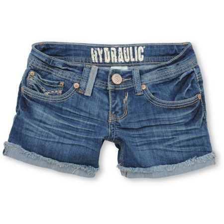 Hydraulic Beth Light Blue Cuffed Denim Shorts