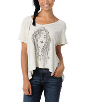 Obey Babys Crying Natural Slub Dolman Top