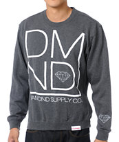 Diamond Supply DMND Charcoal Crew Neck Sweatshirt