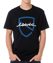 Eswic Script Shield Black Tee Shirt