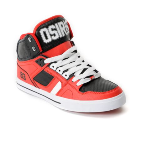 Osiris NYC 83 Vulc Baller Series Red, White & Black Shoe