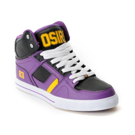 Osiris NYC 83 Vulc Baller Series Purple, Black & Yellow Shoe