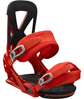 Burton Mission Red ReFlex Snowboard Bindings 2013