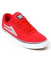 Lakai Manchester Select Red & Silver Skate Shoe